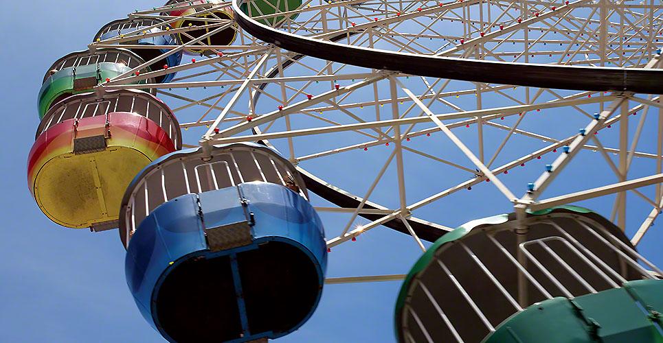 Colourful ferris wheel