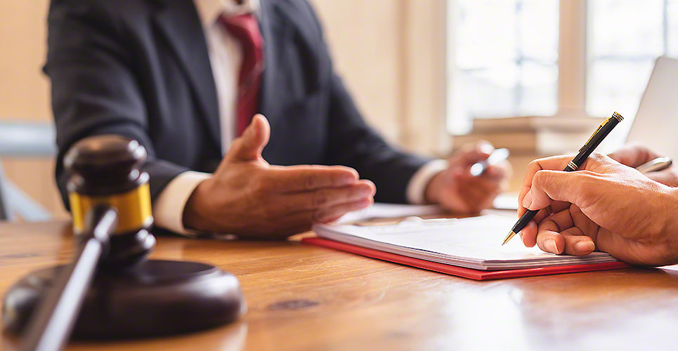 Co-investment business and lawyer or judge team signing contract agreement, Concepts of law, advice, legal services.