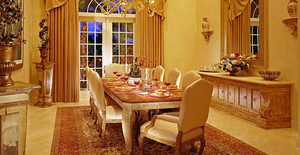 Formal Golden Dining room